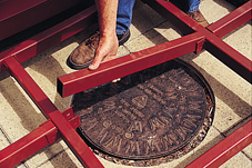 Manhole problems for conservatories